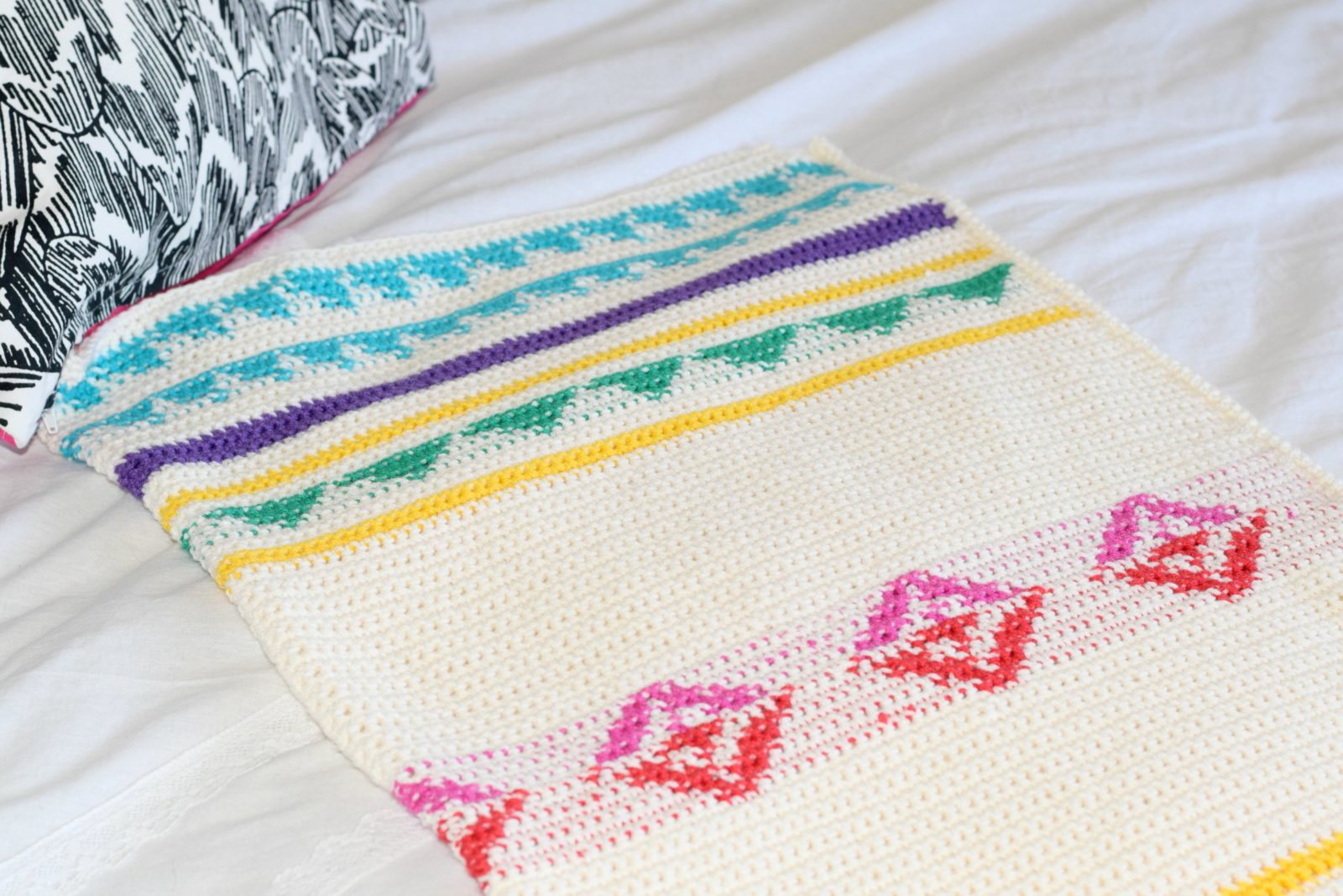 How To Work Tapestry Crochet The Easy Way Mama In A Stitch Round Ripple Afghan Pattern With Diagram Campy