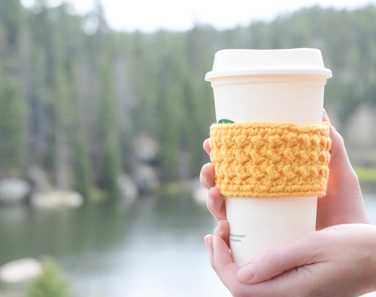 Happiest Starbucks Coffee Cup Cozy