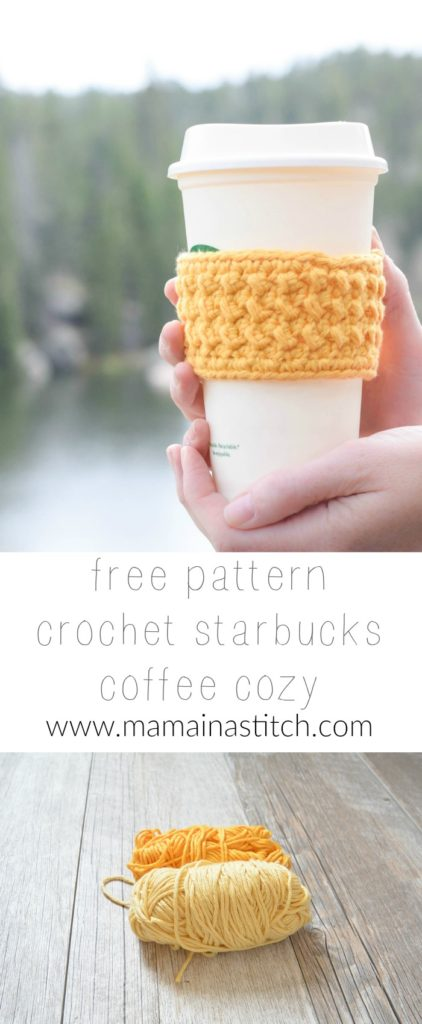 Coffee Cup Cozy Free Crochet PAttern
