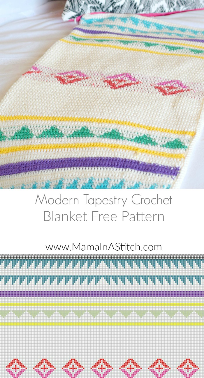 modern camp crochet blanket pattern – mama in a stitch - free crochet blanket pattern