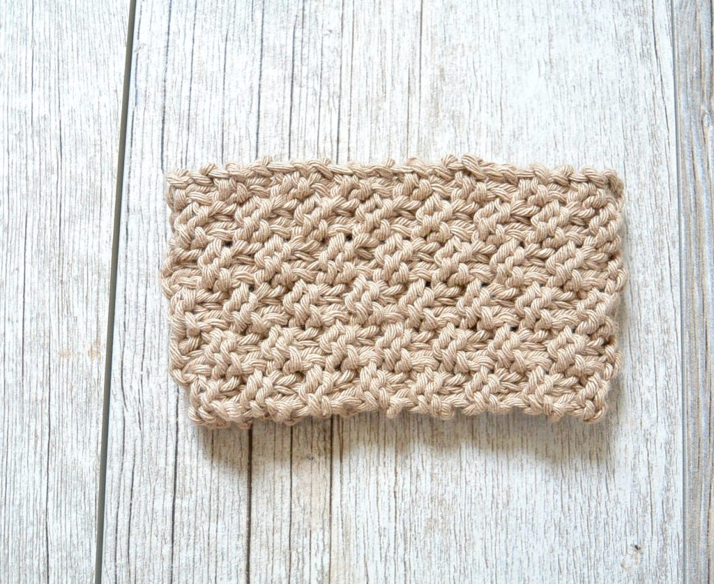 Knit Coffee Cozy Free Pattern