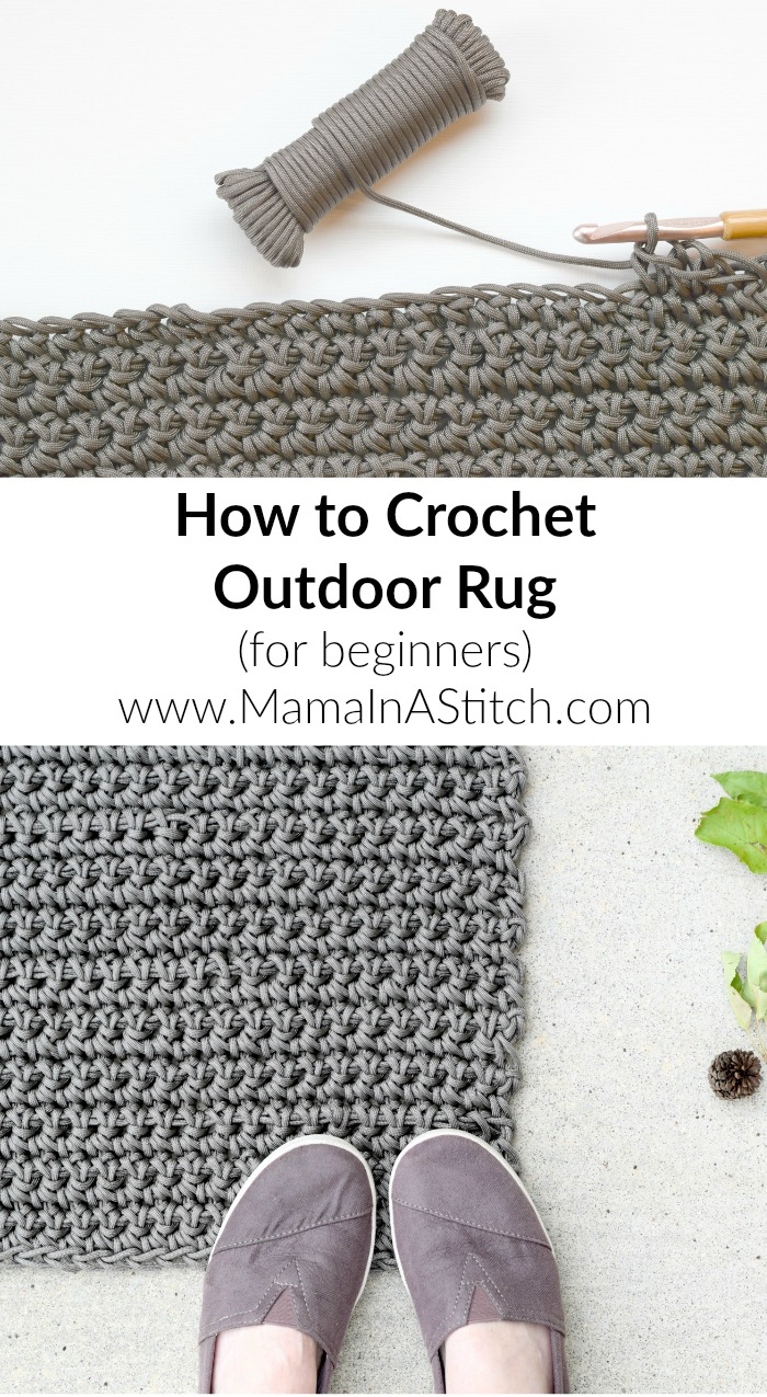 Crochet Rug Patterns For Beginners : How To Crochet An Outdoor Rug (For Beginners) ? Mama In A ...