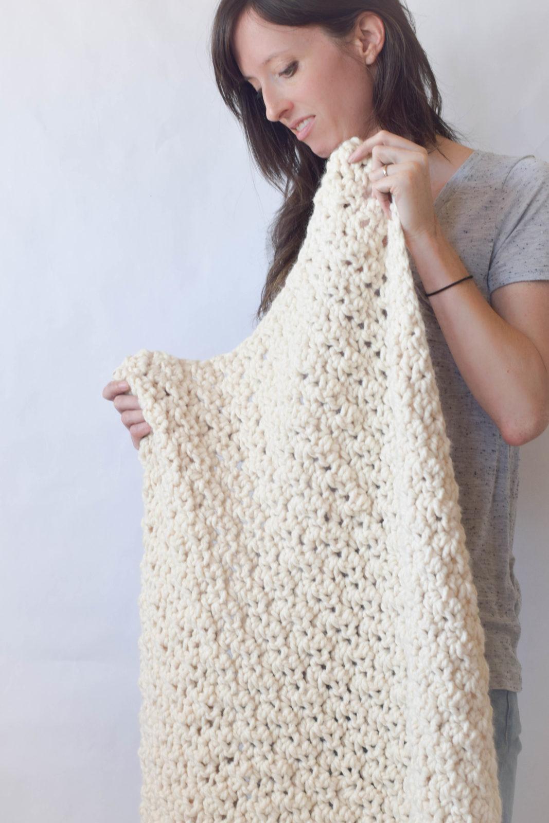 Chunky Icelandic Crochet Blanket Pattern ? Mama In A Stitch