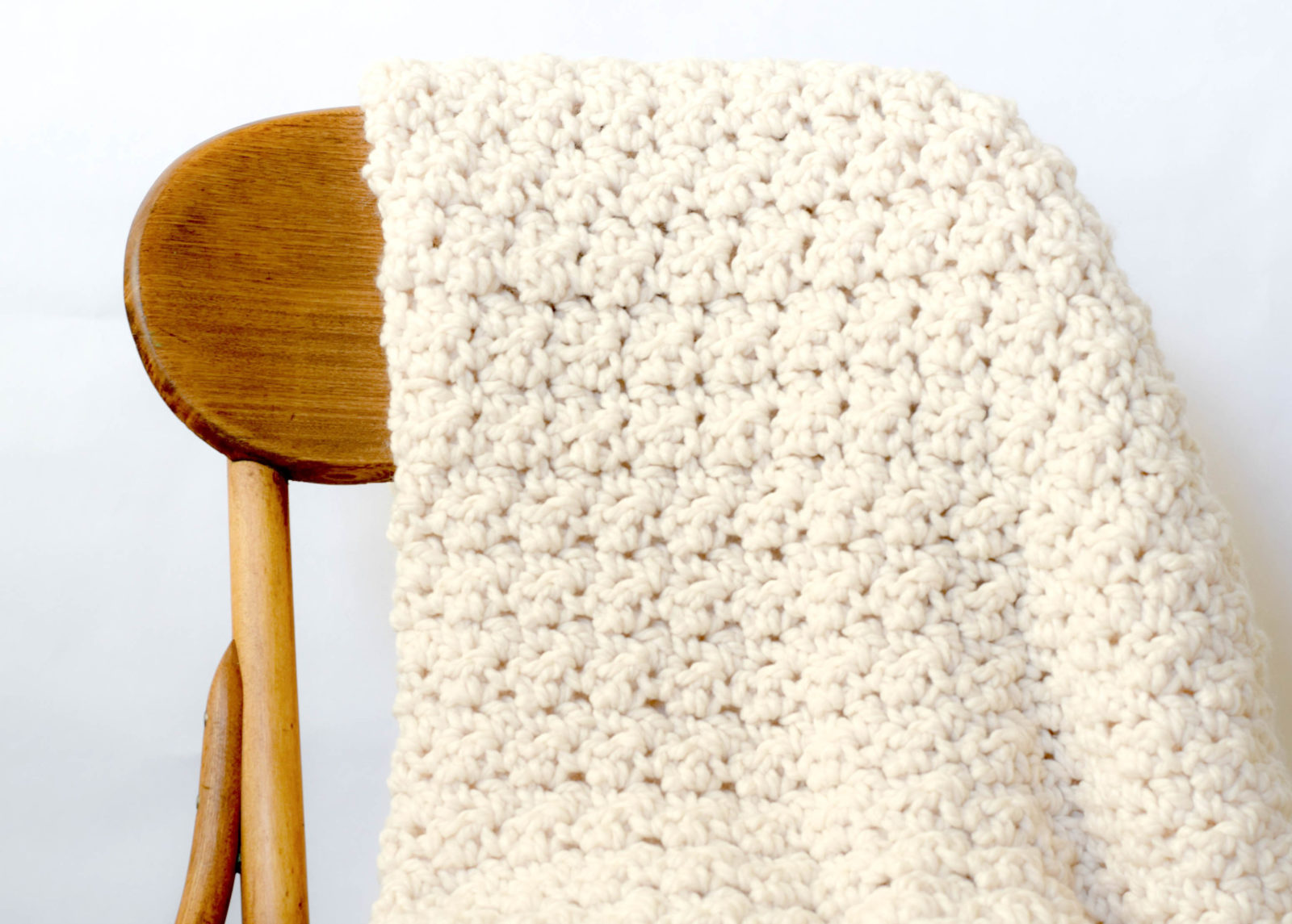 Crochet Stitches For Chunky Yarn : Chunky Icelandic Crochet Blanket Pattern - Mama In A Stitch