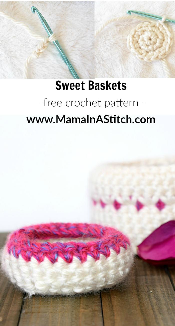 Jewelry Catchers - Crochet Baskets Pattern – Mama In A Stitch
