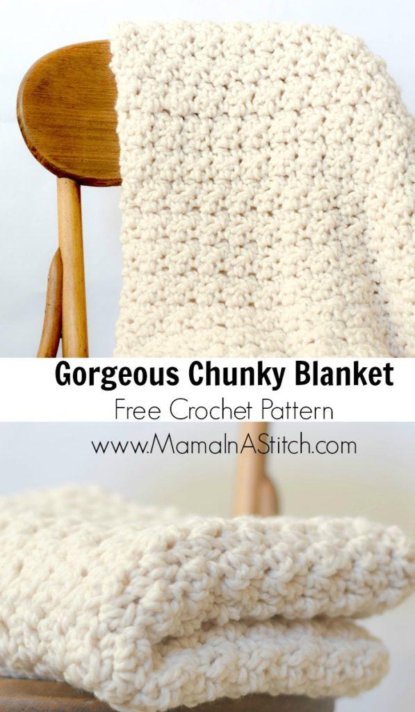 Free Crochet Pattern Chunky Blanket