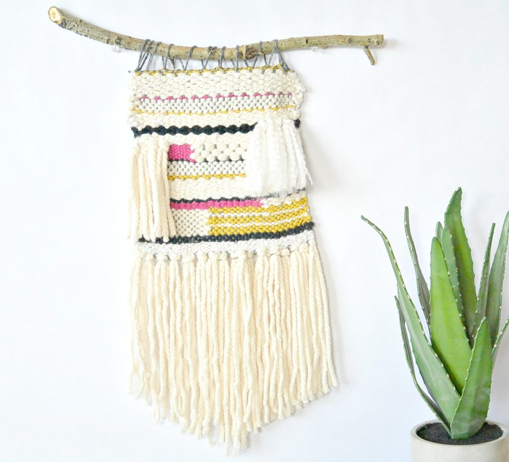 Lap Loom Woven Wall Hanging Mama In A Stitch