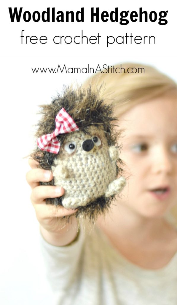 Woodland Animal Free Crochet Pattern Hedgehog