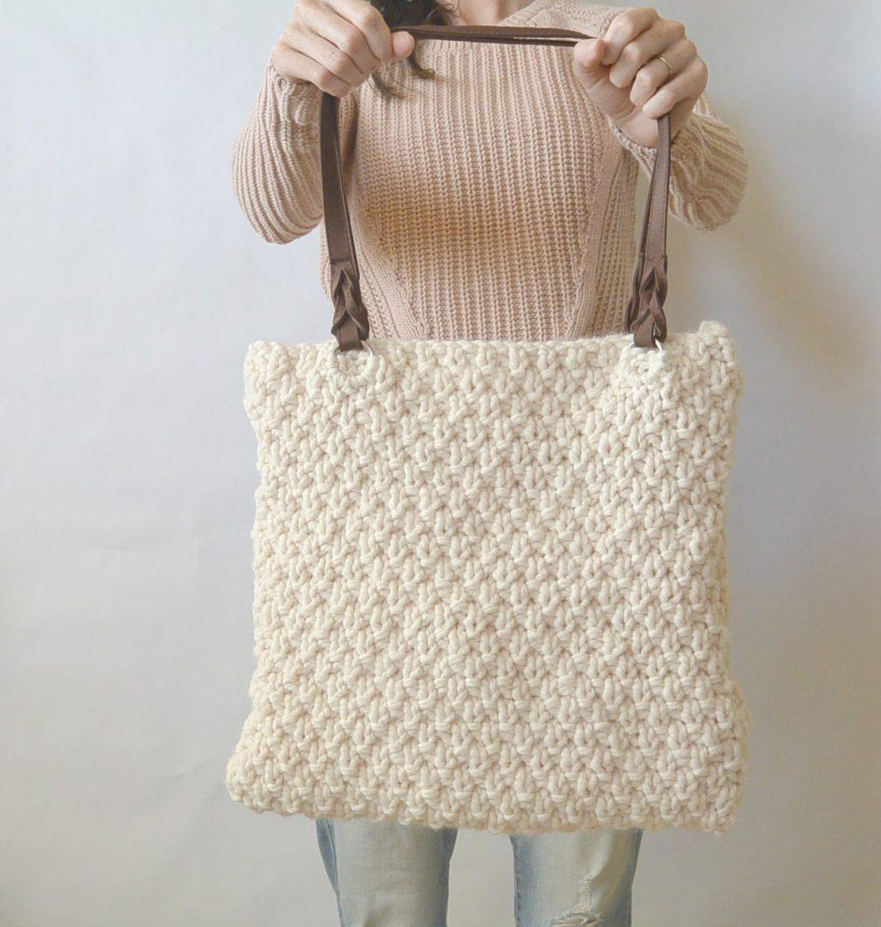 Aspen Easy Free knitting bag pattern