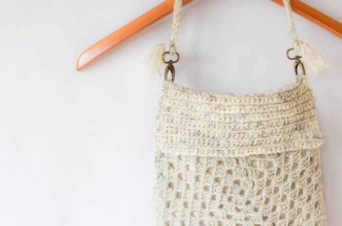 Boho Fringe Granny Square Crochet Purse
