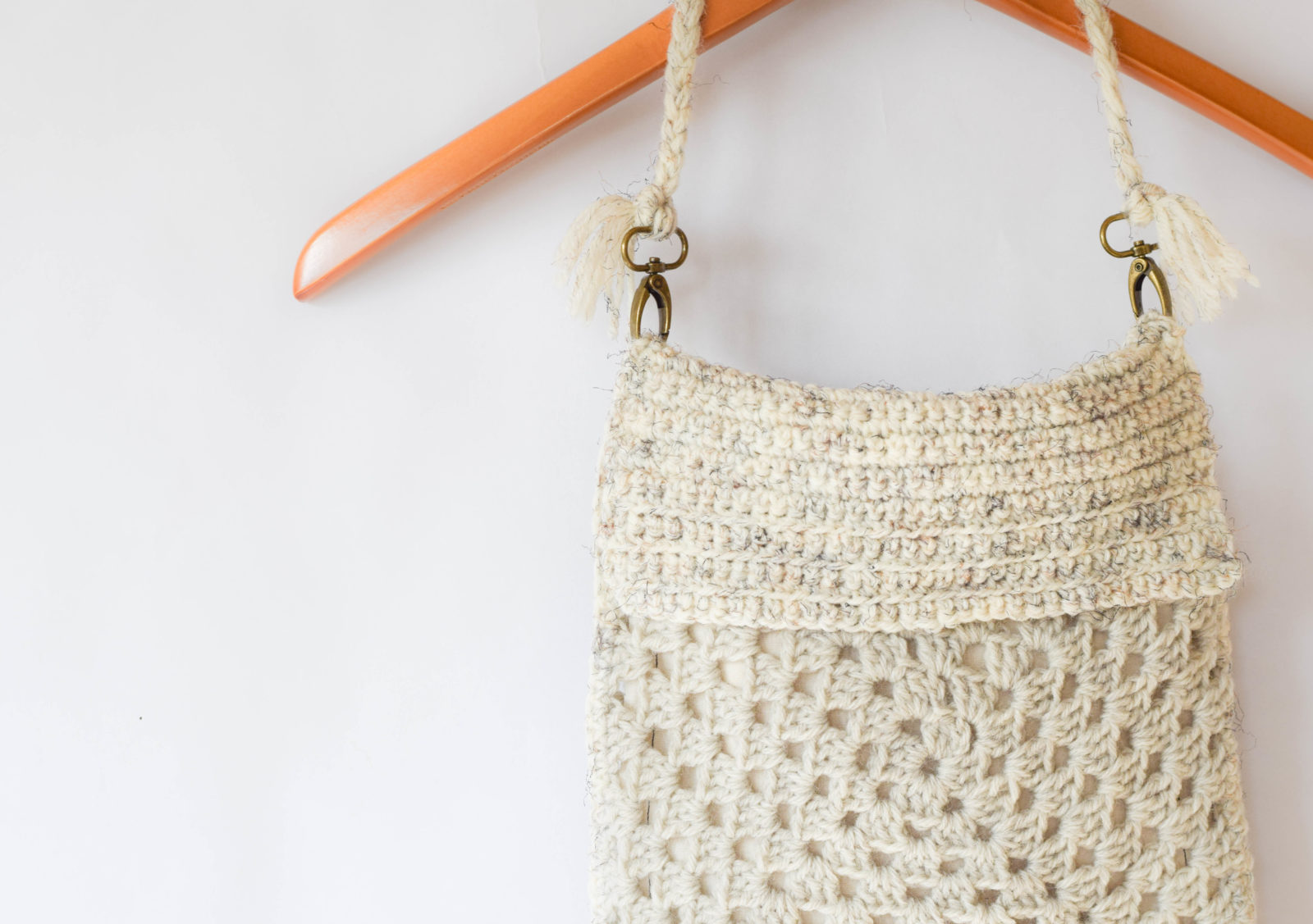 Boho Fringe Granny Square Crochet Purse - Mama In A Stitch