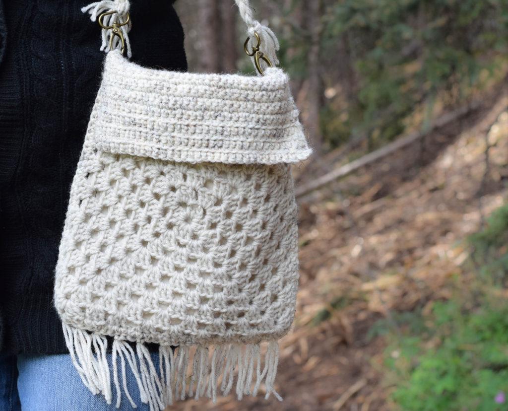 Boho Granny Square Crochet Bag Pattern 4