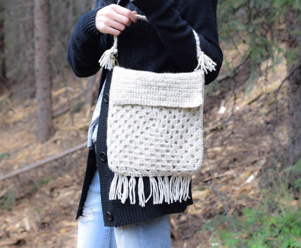 Boho Granny Square Crochet Bag Pattern 5