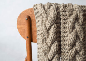 Cabled Knit Chunky Scarf Pattern 1