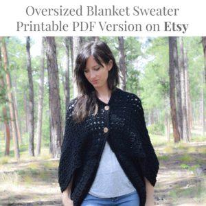 Crochet Blanket Sweater Etsy