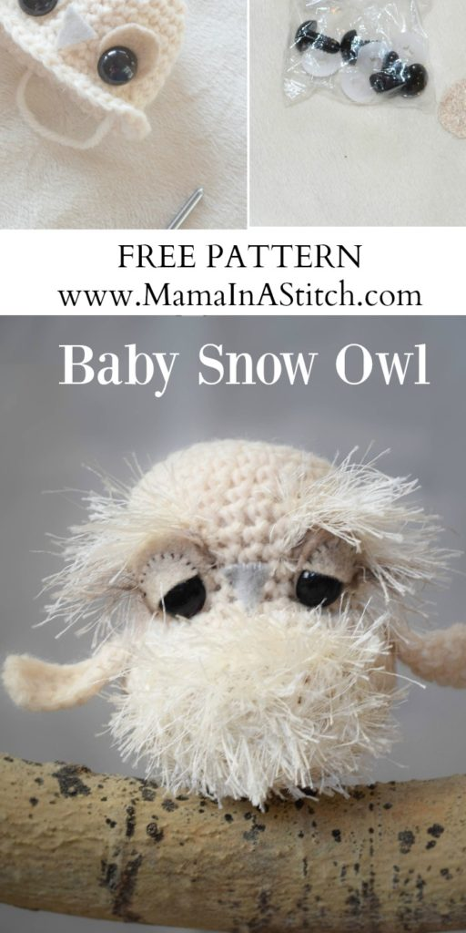 Crochet Pattern For Pikachu Doll : Baby Snow Owl Crochet Pattern Mama In A Stitch