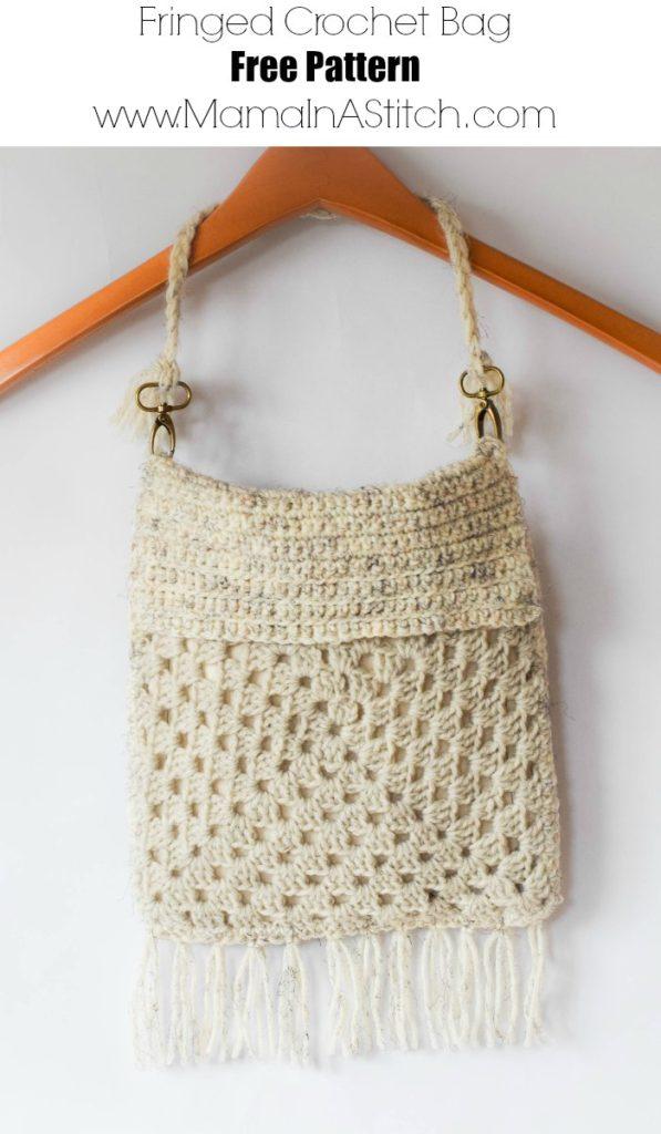 Free Crochet Pattern Modern Boho Bag