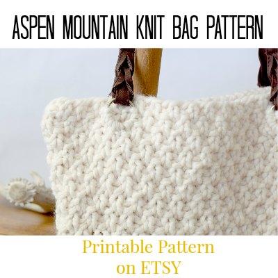 Free Knitting Pattern for Easy Bag