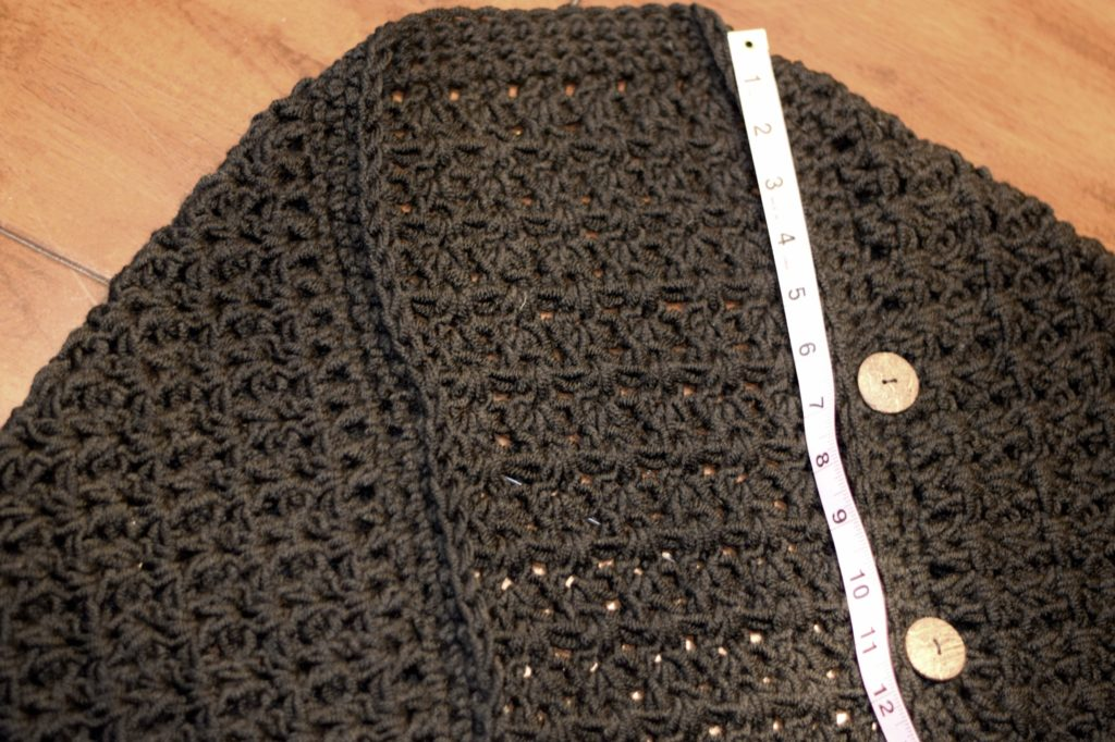 V Stitch Crochet Pattern Adding Buttons