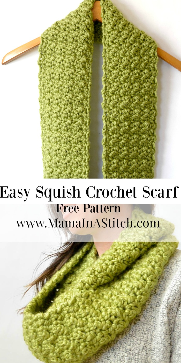 Free Crochet Pattern For Chunky Scarf : Chunky, Squishy Crochet Infinity Scarf Pattern ? Mama In A ...