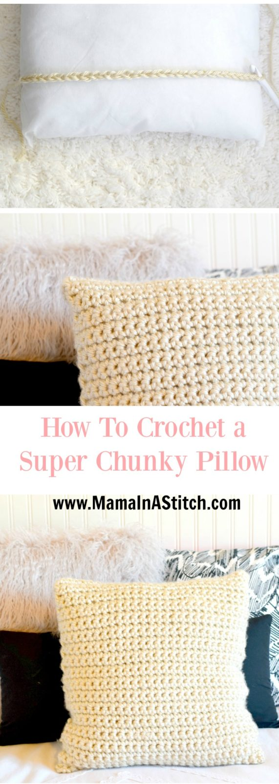 Super chunky crochet pillow project mama in a stitch crochet pillow pattern beginner easy bankloansurffo Gallery