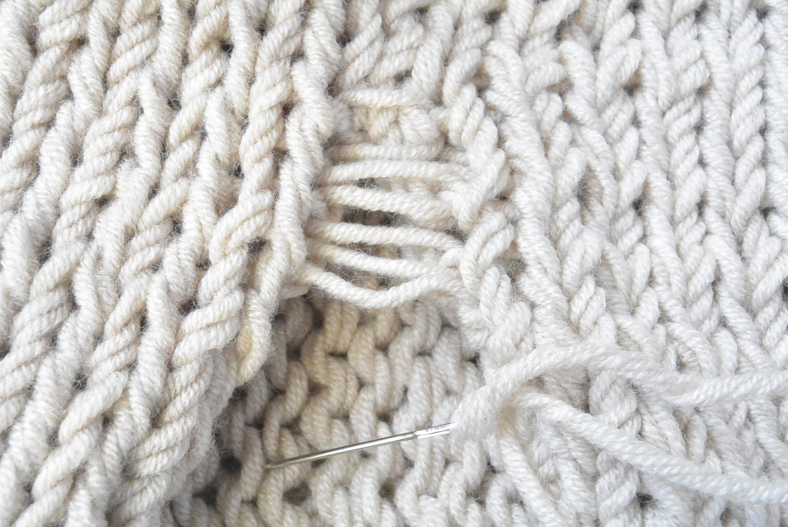 Simple Knitting Stitches : Easy Knit Blanket Sweater Pattern   Mama In A Stitch