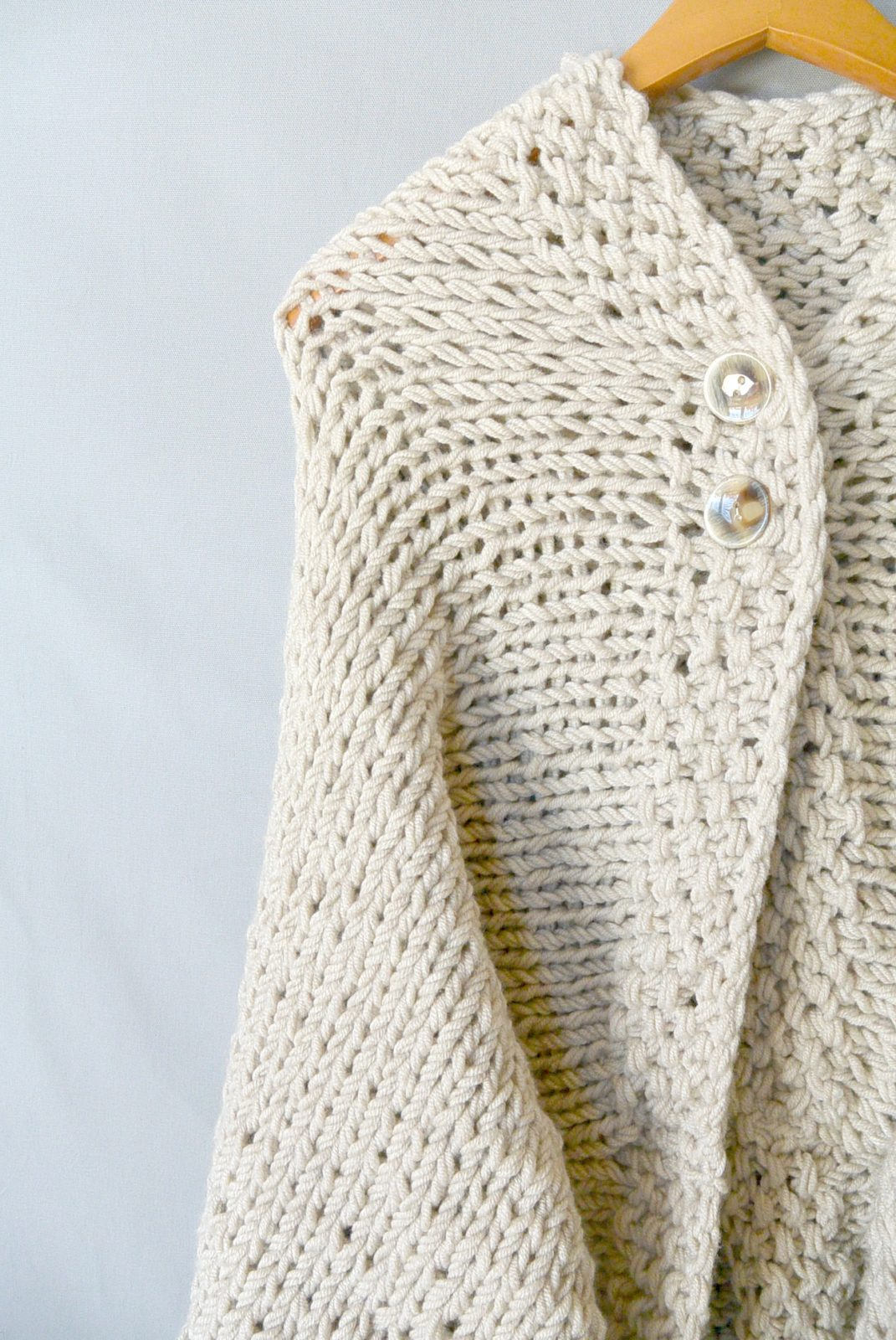 Easy Knit Blanket Sweater Pattern   Mama In A Stitch