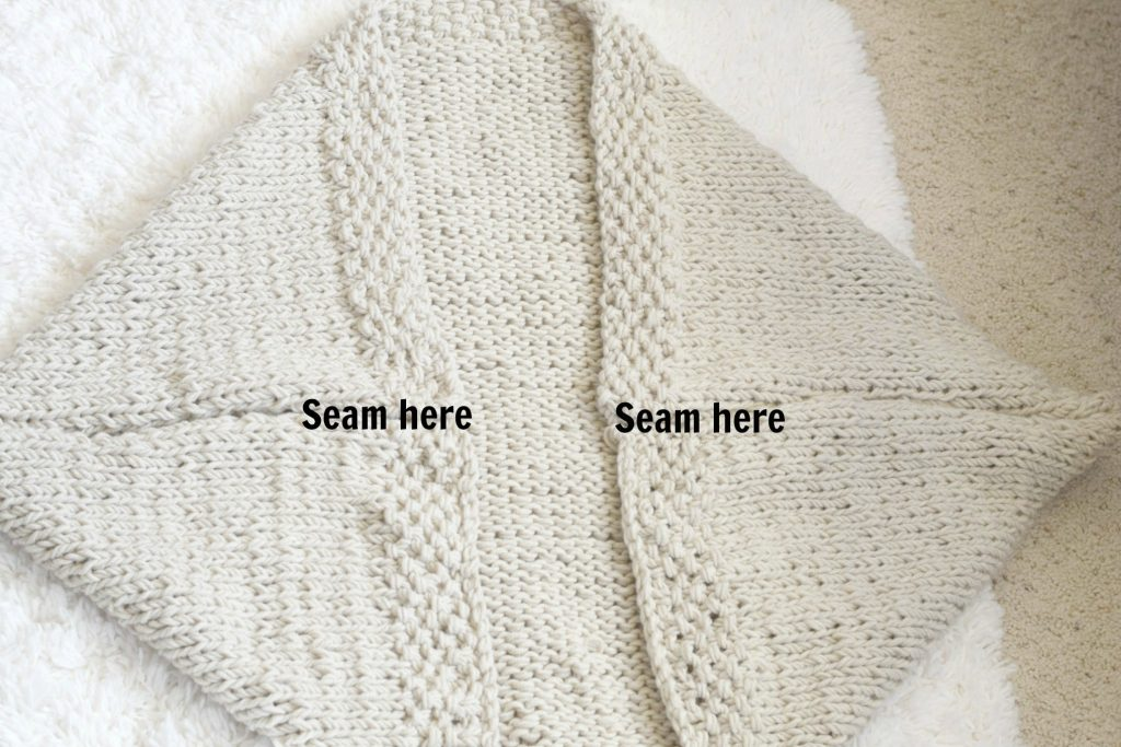 99940efdde Easy Knit Blanket Sweater Pattern – Mama In A Stitch