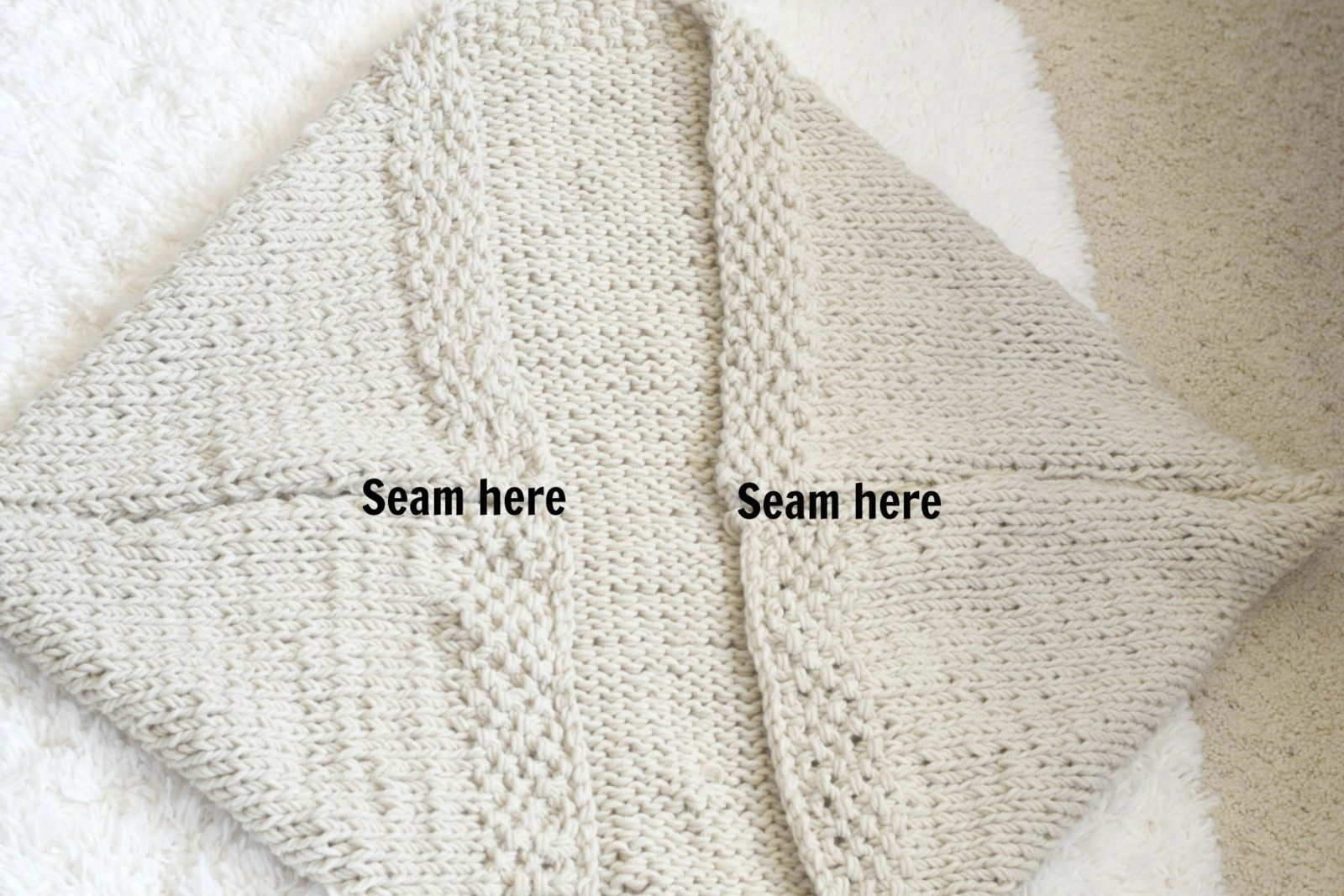 Easy Knitted Slouchy Hat Pattern : Easy Knit Blanket Sweater Pattern   Mama In A Stitch