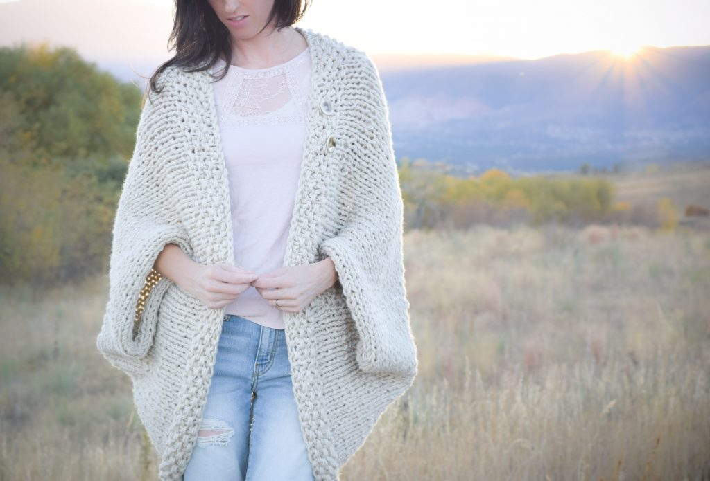 Blanket Sweater Knitting Pattern - Bronze Cardigan