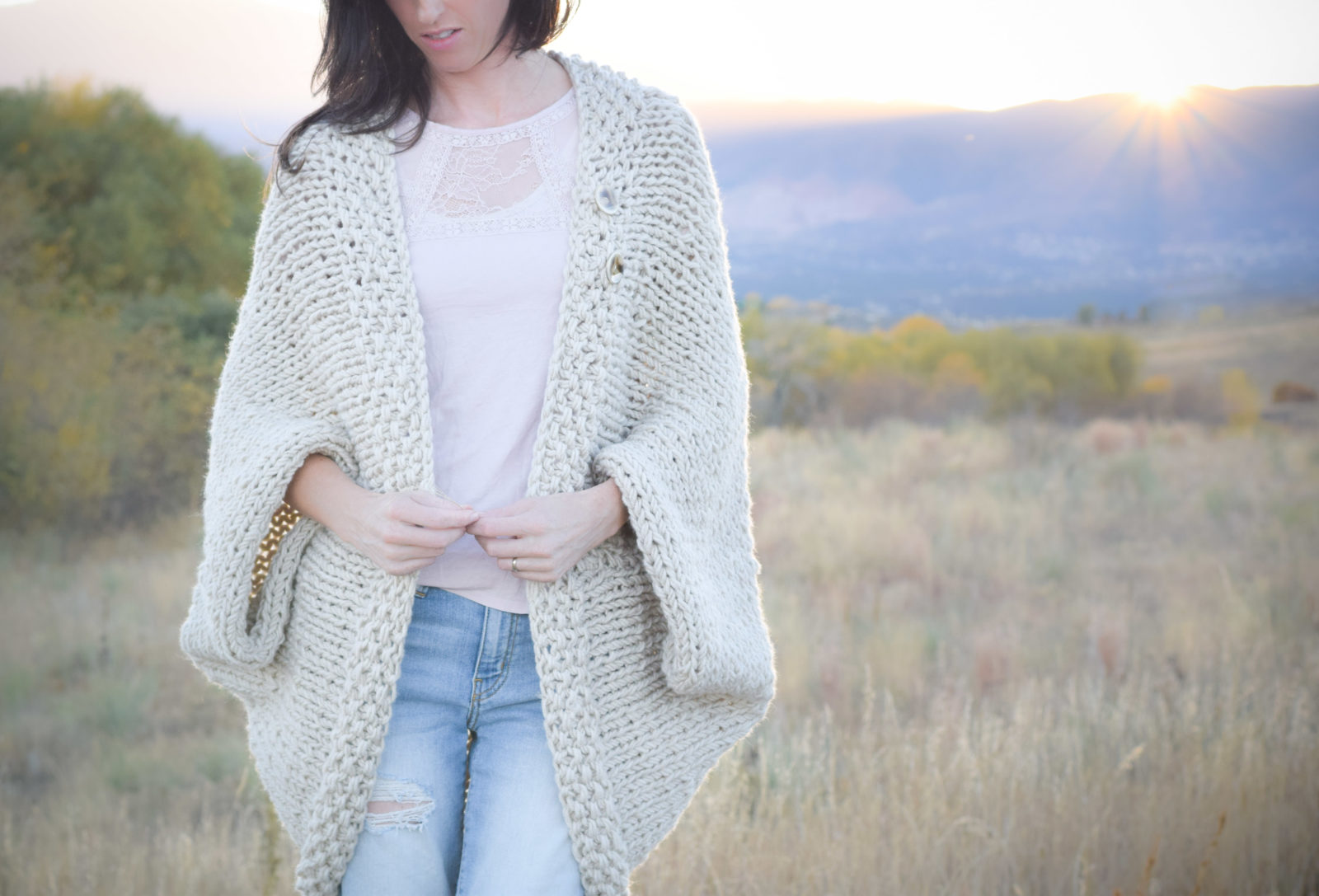 Knitting Cardigan Design : Easy knit blanket sweater pattern mama in a stitch