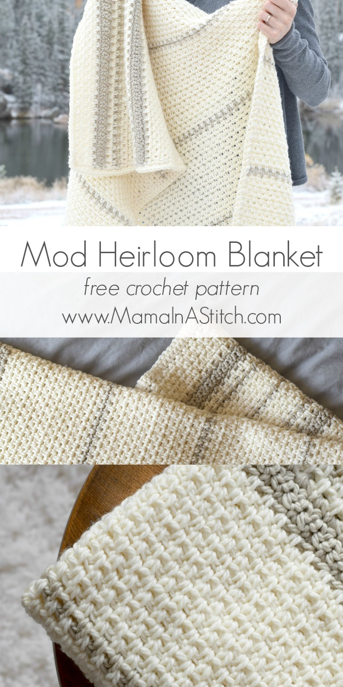 Mod Heirloom Crochet Blanket Pattern Mama In A Stitch