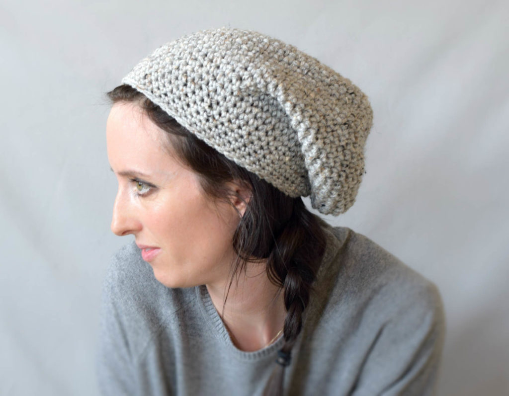 Crochet Slouchy Hat Pattern Easy : How To Crochet An Easy Slouchy Hat -