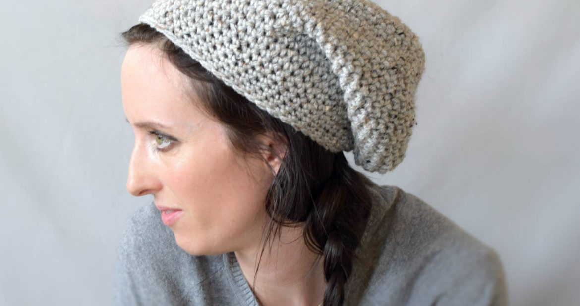 fdfc9c946db How To Crochet An Easy Slouchy Hat -