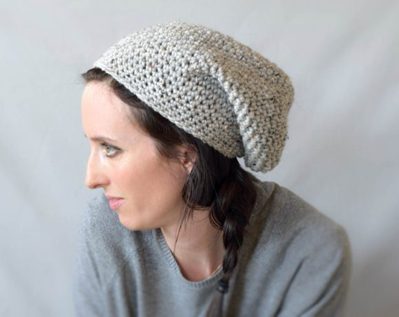 "How To Crochet An Easy Slouchy Hat – ""East Village Slouch"""