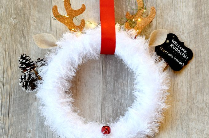Rudolph Christmas Wreath DIY