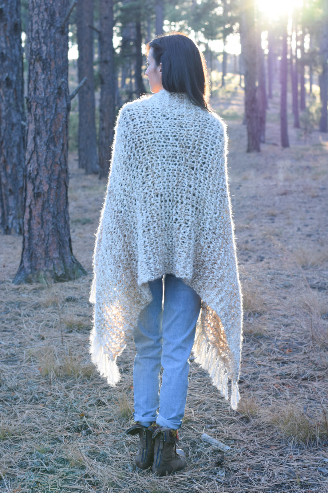 Sedona serenity knit shawl pattern mama in a stitch sedona beginner knit shawl pattern 01 bankloansurffo Image collections
