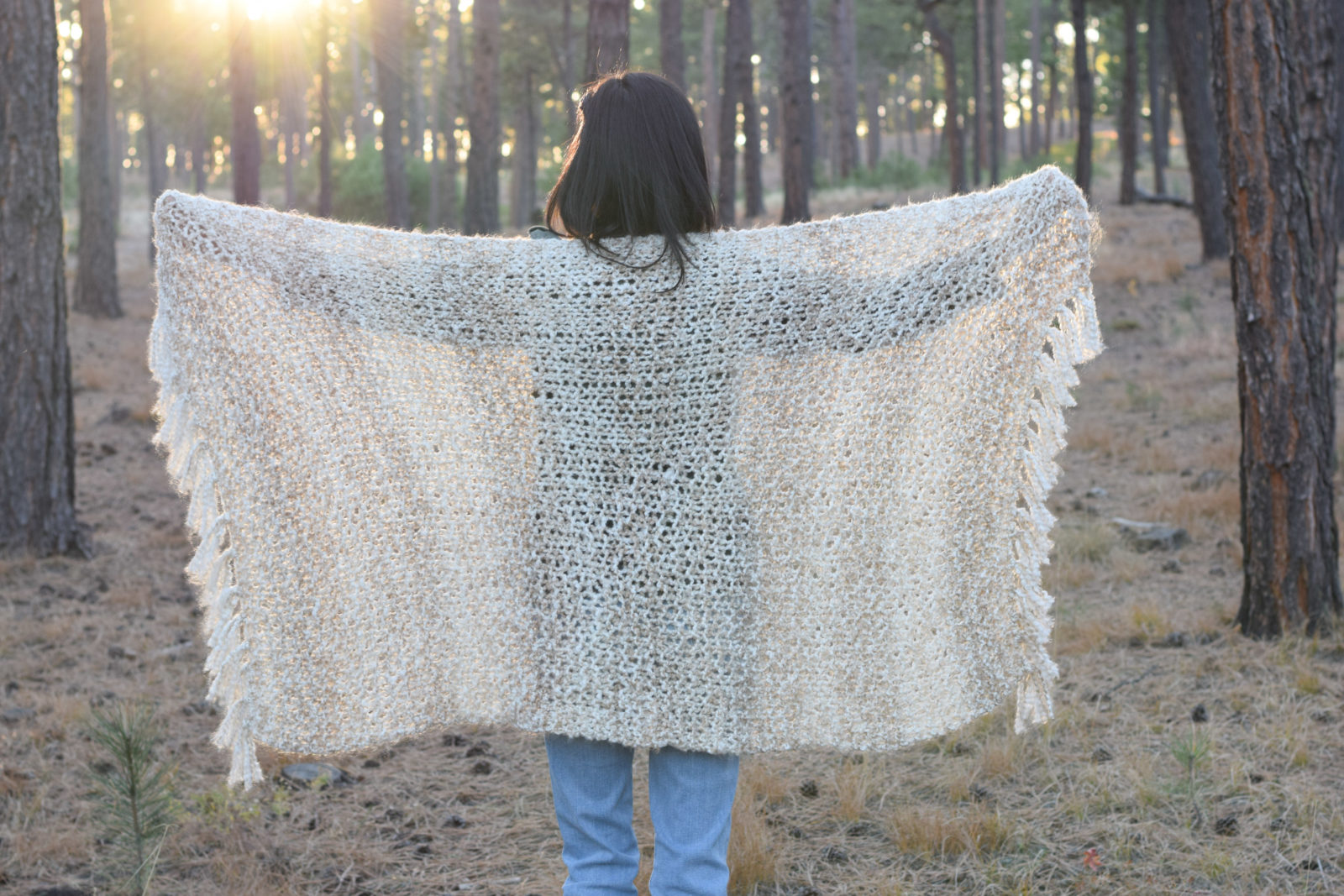 Sedona Serenity Knit Shawl Pattern - Mama In A Stitch