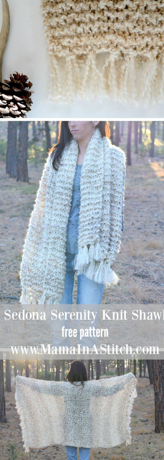 Sedona Serenity Knit Shawl Pattern – Mama In A Stitch