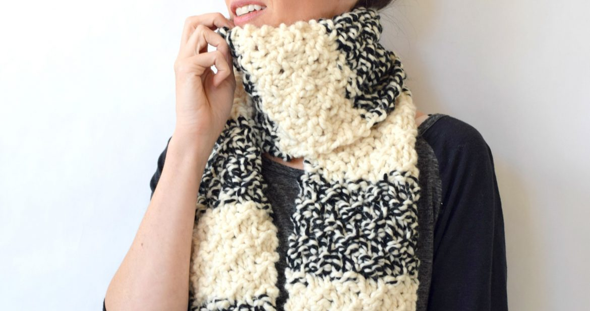 Winter Nights Easy Knit Scarf Pattern Mama In A Stitch