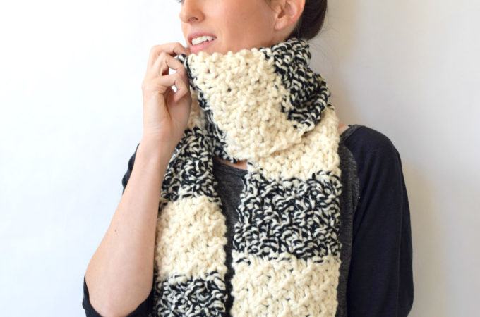 Winter Nights Easy Knit Scarf Pattern