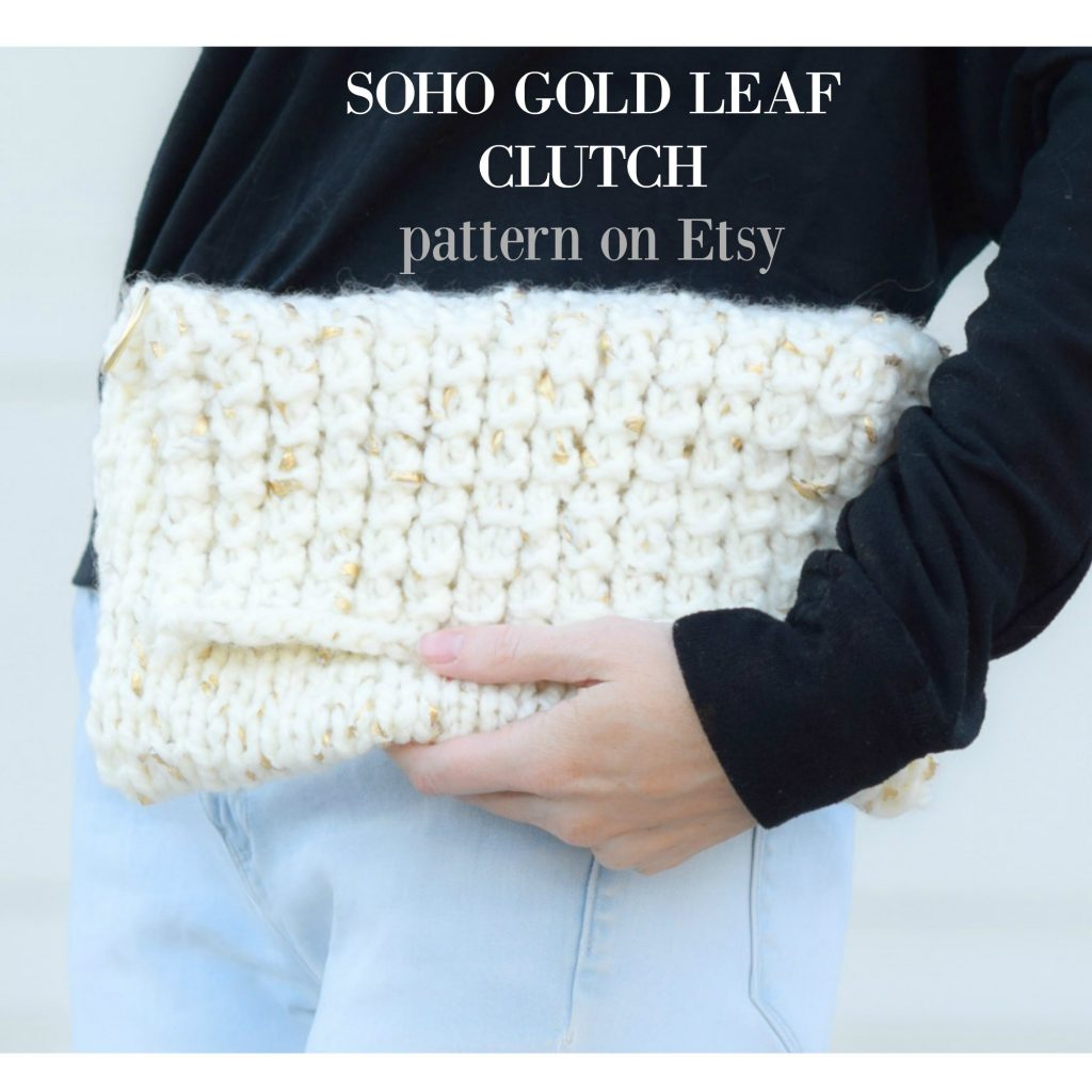 Knitted Clutch Pattern : easy-knit-clutch-pattern-soho-clutch-etsy