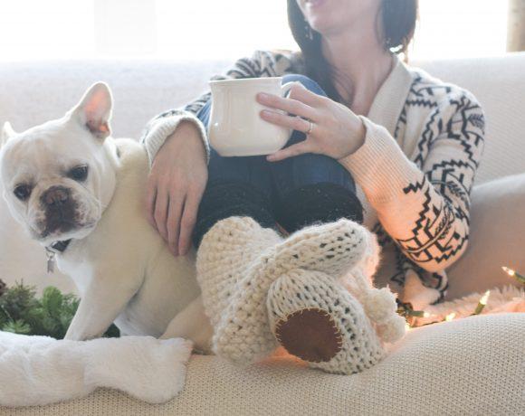 Mountain Chalet Boot Slipper Knitting Pattern (Knit Flat)