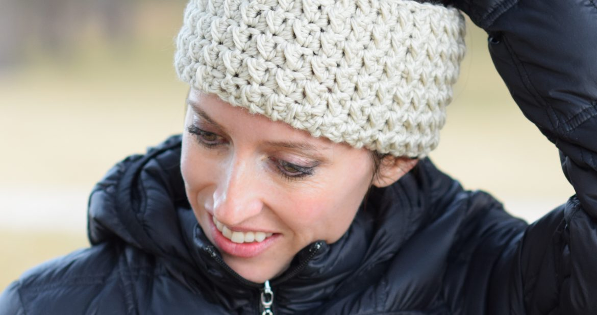 Messy Bun Ear Warmer Crochet Pattern – Mama In A Stitch