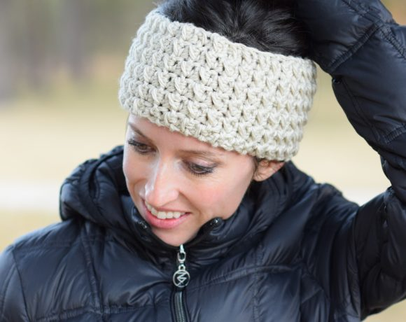 Messy Bun Ear Warmer Crochet Pattern