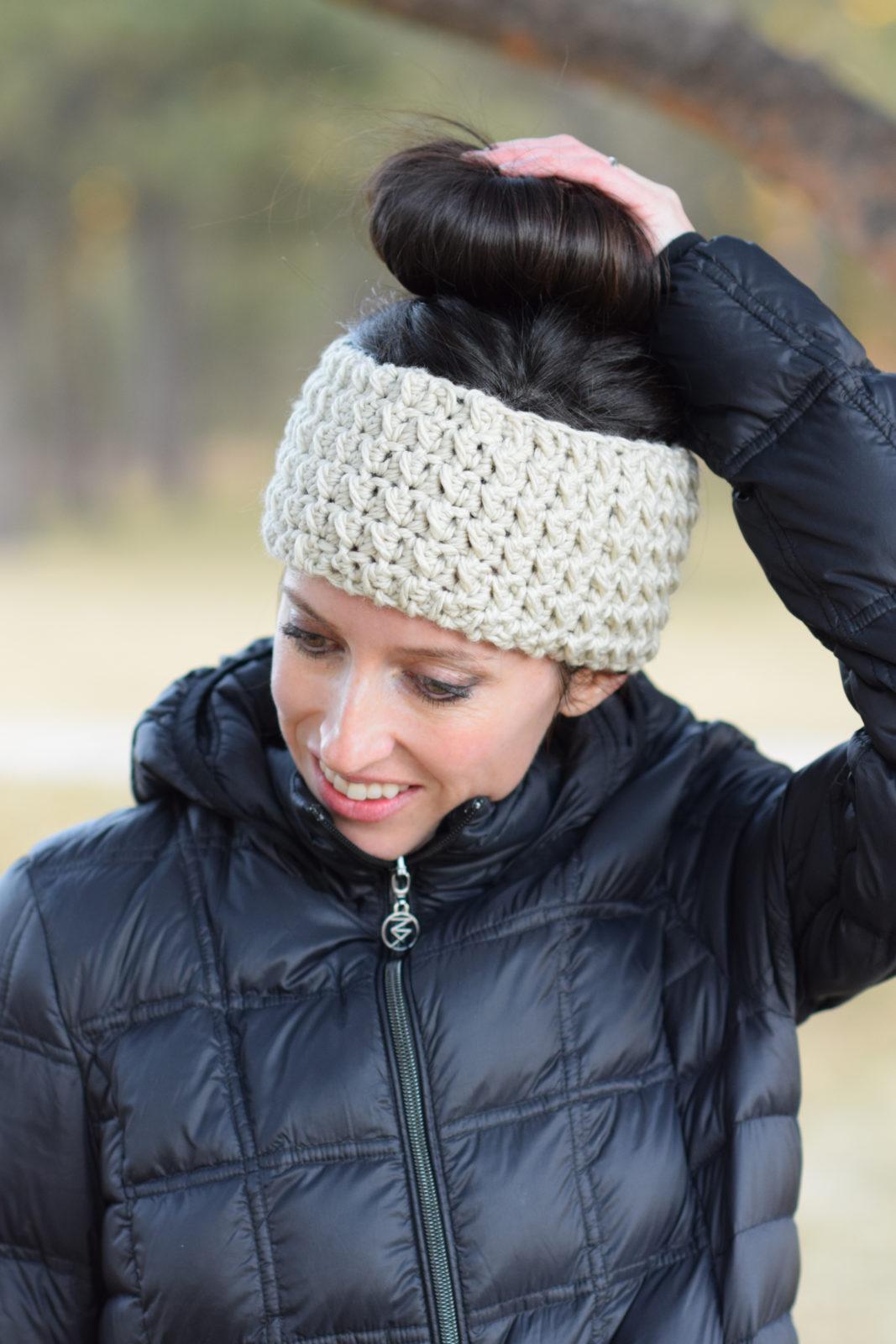 Messy Bun Ear Warmer Crochet Pattern Mama In A Stitch