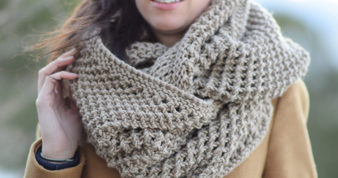 Knitted Head Scarf Pattern : The Traveler Knit Infinicowl Scarf Pattern   Mama In A Stitch