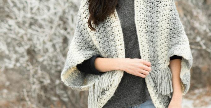 Light Frost Easy Blanket Sweater Crochet Pattern