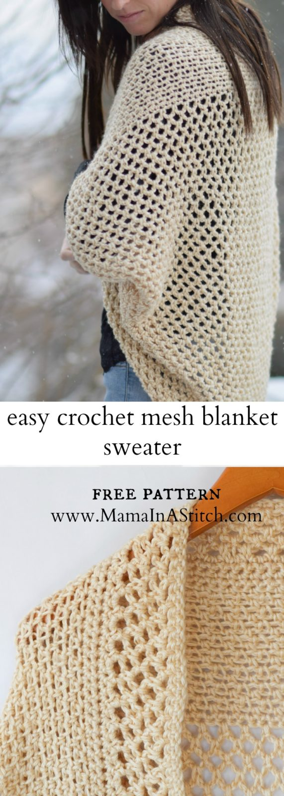 Mod Mesh Honey Blanket Sweater ? Mama In A Stitch