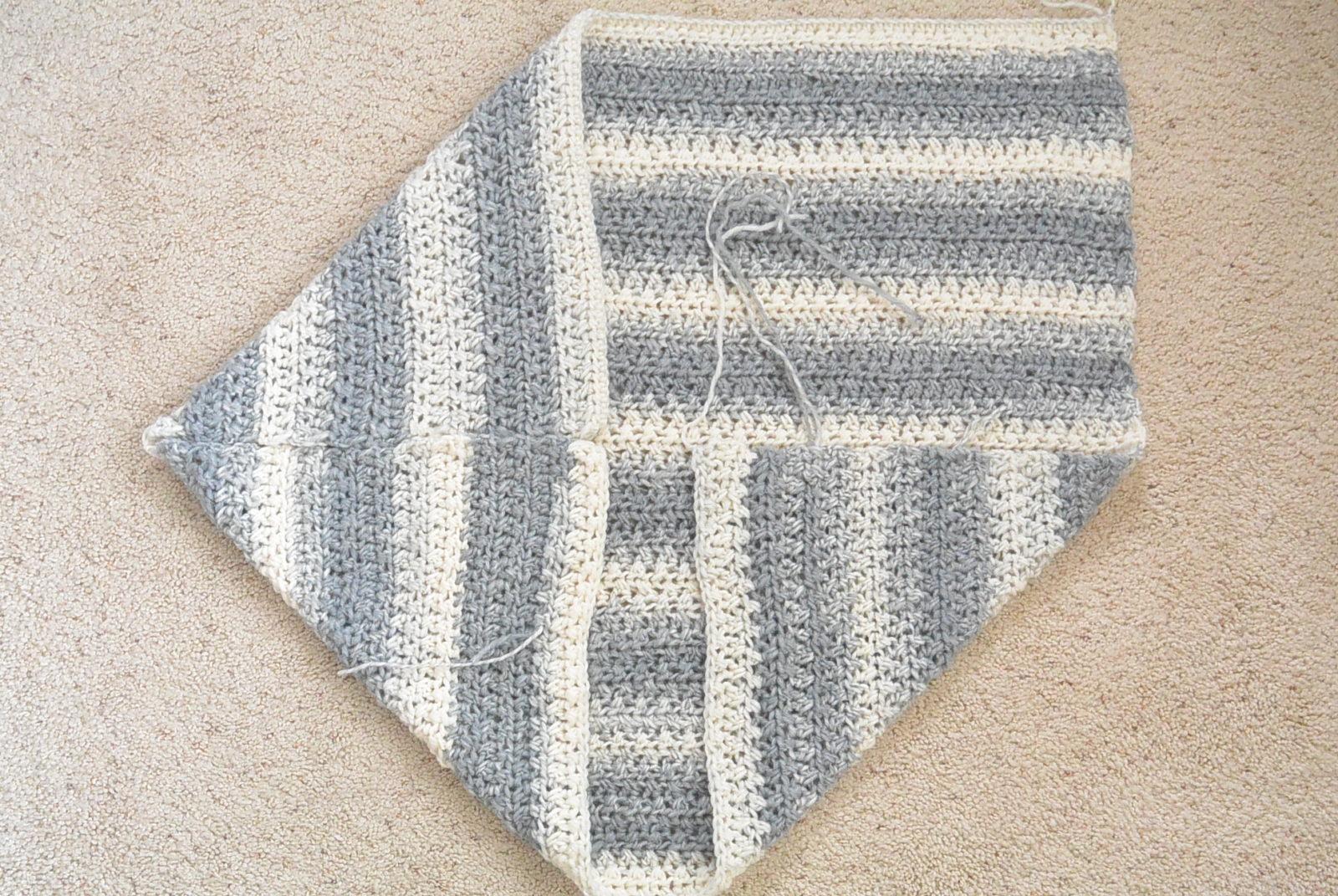Light Frost Easy Blanket Sweater Crochet Pattern Mama In